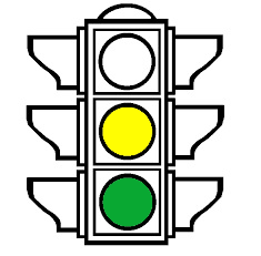 A traffic light with the yellow and green lights on, , representing the Litigation Readiness/Preparedness Assessment for eDiscovery stage 4