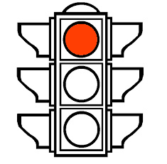 A traffic light with only the red light on, representing the Litigation Readiness/Preparedness Assessment for eDiscovery stage 1