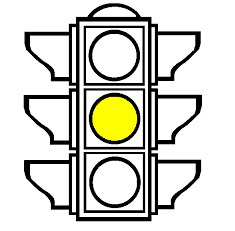 A traffic light with only the yellow light on, , representing the Litigation Readiness/Preparedness Assessment for eDiscovery stage 3