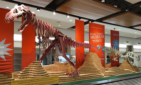 A model of a dinosaur skeleton. Don't become extinct in your litigation processes. For support REW Computing offers services in eDiscovery, project management and IBM Lotus Notes for the area of Newmarket, Toronto, the GTA, and Ontario, Canada.