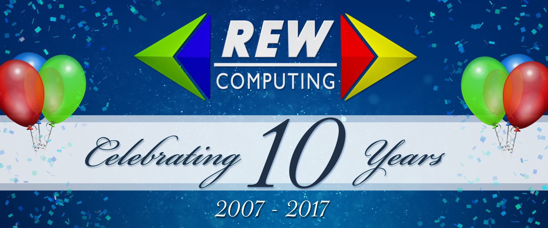 REW Computing celebrating 10 years as an incorporated entity (2007 - 2017)